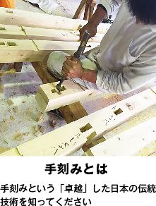 手刻みとは 手刻みという「卓越」した日本の伝統技術を知ってください